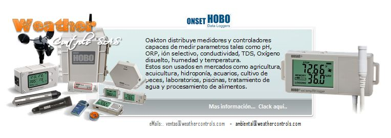 Onset Hobo   Dataloggers Ambientales